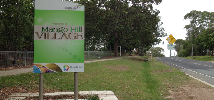 Welcome to Mango Hill Village Sign