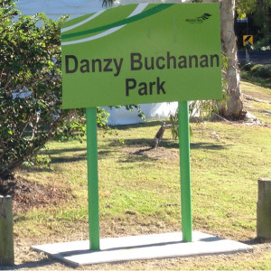 Danzy Buchanan Park Sign